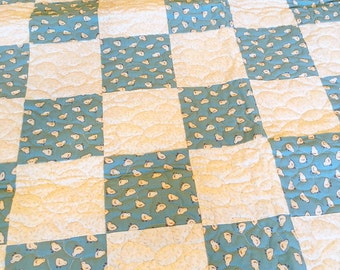 Quilt (Baby's) chicks, blue