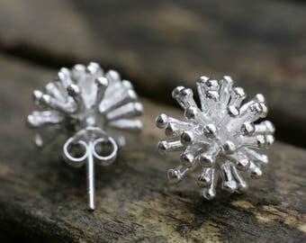 Silver Stud Earrings, Sterling Silver Earrings, Silver Earrings