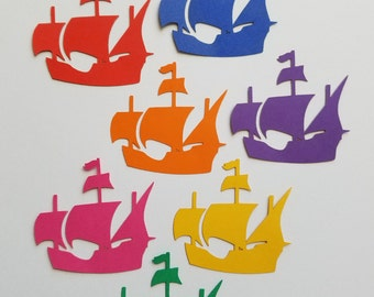 Pirate Nautical Style Ship Scrap Booking Die Cut Outs ( Embellishments, Party Decoration )