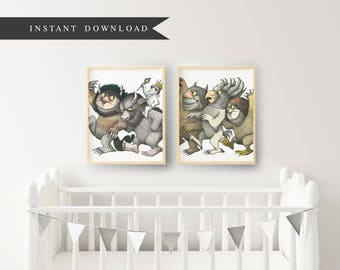 Where the Wild Things Are - Printable Instant Download - Hand Sketched