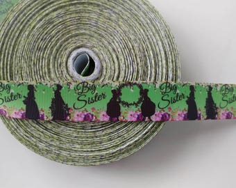 Big Sister 1 inch 1 yard grosgrain custom ribbon