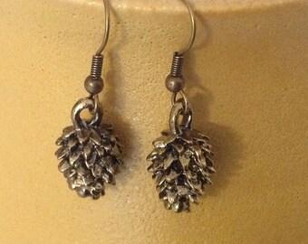 Bronze Pinecone Earrings