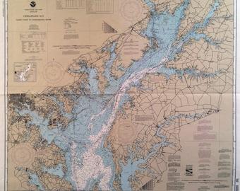 VINTAGE Navigational BOAT CHARTS