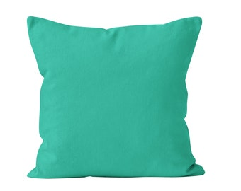 Solid Turquoise Pillow Cover, Turquoise Blue Green Pillow Cover, Turquoise Cushion Cover, Turquoise Throw Pillow Cover, Turquoise Accent