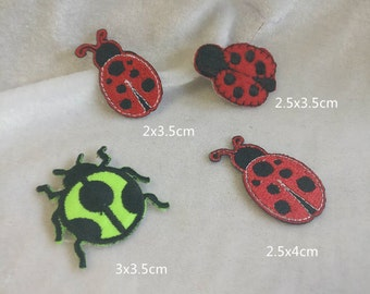 Wholesale Lot   12pcs    ladybug  collection   embroidered iron on patch