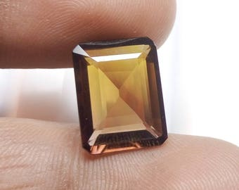 50% OFF - 15x12x5 mm Faceted Ametrine Stone - Ametrine Emerald Cut Faceted Gemstone - Ametrine Quartz Gemstone
