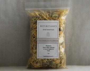 Dried Calendula Flowers, Bee's Botanics dried Calendula, For calendula Soap or Calendula Salve, Pot Marigold, Dried Herbs