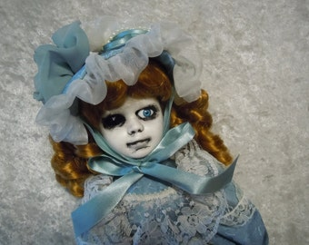 Victorian Era Creepy Doll with One Eye #93 Day of the Dollies