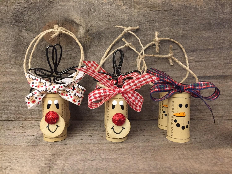 Cork christmas decorations - Set Of 6 Wine Cork Ornaments Wine Bottle Accessories Wine Cork Ornaments Wine