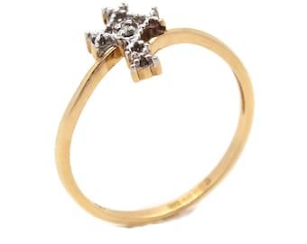 Gold Diamond Cross Ring, Womens Ring, Cross Rings, Womens Cross Ring, Diamond Cross, Gold Cross Ring, Gold Diamond Cross Ring, Cross Ring