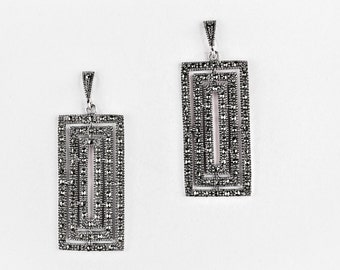 P61 Marquesita Earrings Vintage Taxco Mexican 925 Sterling Silver Mexico