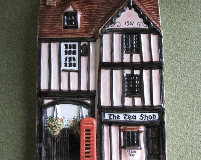 Vintage Hazle Ceramics The Tea Shop A Nation of Shopkeepers Hand Painted in England High Street