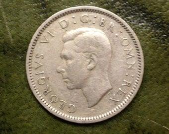 Silver Sixpence George VI England 1949