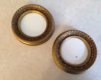 Pair of Small Round Frames