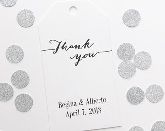 Thank You Tags, Customized Wedding Tags, Custom Wedding Favor Tags  (MLT-009)
