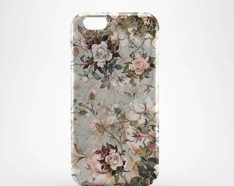 Floral vintage Hard case 3D case Apple iPhone 4 5 6 7 Samsung Galaxy S6 S7  #213