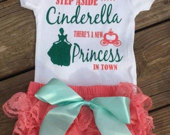 Step aside Cinderella there's a new Princess in town.  Princess outfit. Ruffle butt diaper cover.