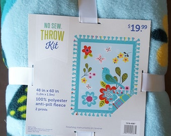 Springtime No Sew Fleece Throw Kit