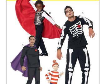 McCall's Pattern M7494 Men's/Boys' Skeleton, Hero, Vampire and Character Costumes