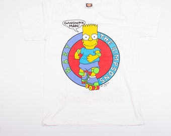 Vintage The Simpsons Bart Simpsons 90s Rollerskate Tshirt
