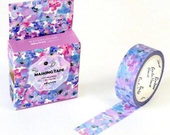 Watercolor Flower Washi Tape