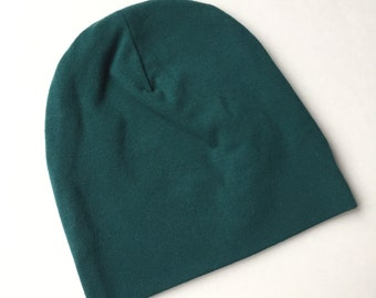 Forest Green baby beanie hat