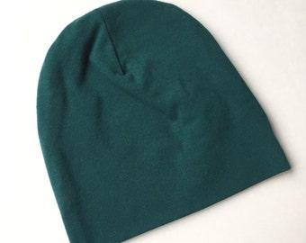 SALE / Forest Green baby beanie hat