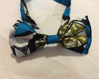 Noeud Papillon double en tissu africain wax imprimé motifs liberty scratch mixte homme femme ethnique original fantaisie