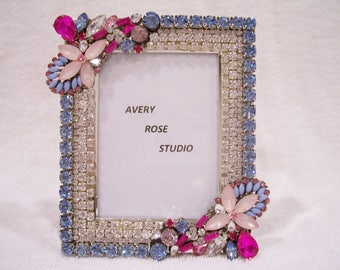 Jeweled Picture Frame. Great Gift Idea.