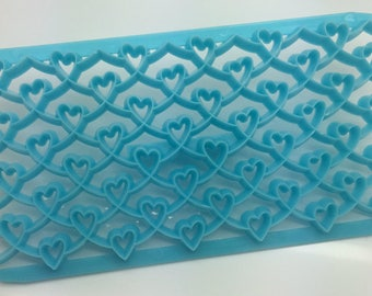 Fondant Fancy Heart Embosser