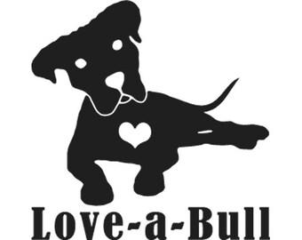 Love-A-Bull Vinyl Decal Sticker