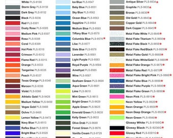 "12″x15″ sheets and 12""x 7.5"" sheets of Thermoflex Plus Heat Transfer Vinyl- ships within 24 hours!  LOTS of colors to choose!"