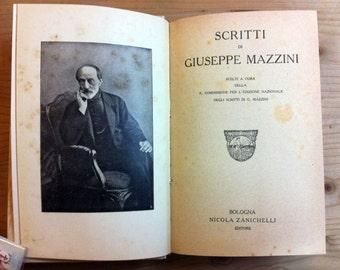 Old book 1920 Scritti di GIUSEPPE MAZZINI