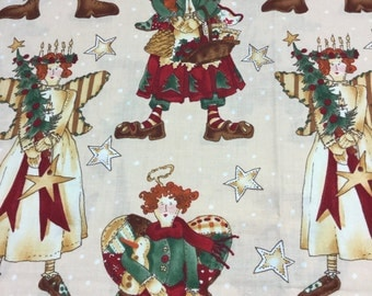 Ragg Angels Alexander Henry Christmas fabric! SUPER SWEET