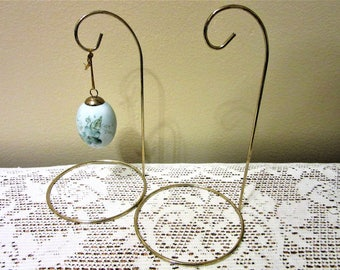 Ornament Hanger Brass Plated Stand Holder Display Easter Eggs or Christmas blm