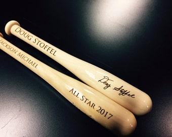 Replica Novelty Autograph Bats - Super Fun for Little or Big Baseball Players