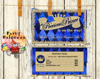 Printable Prince Baby shower Popcorn wrapper