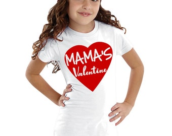 Mama's Valentine Kids Shirt or Baby Bodysuit