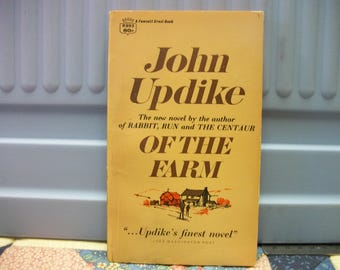 John Updike Of The Farm vintage mass market paperback 1966  VG condition