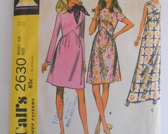 McCalls's 2630 Misses Size 12 Three Version Dress
