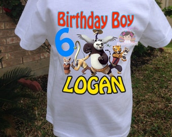 kung fu Panda Birthday shirt, Birthday Boy shirt, Kung fu Panda party