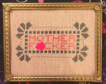 Offensive Cross Stitch