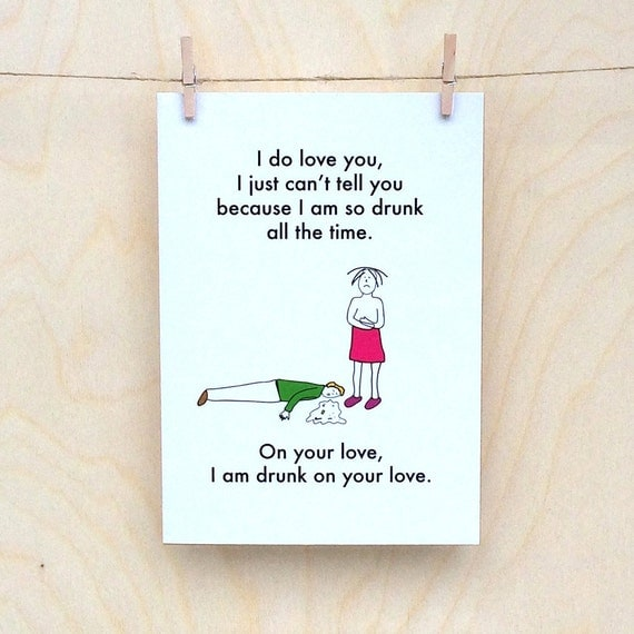 Funny valentines card, funny love card, funny card