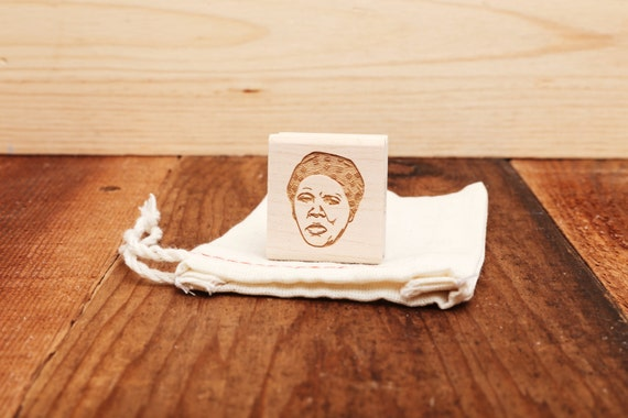 Harriet Tubman Rubber Stamp Portrait From Stampyoface On