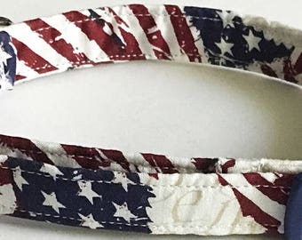 Patriotic Stars and Stripes Dog and Cat Collar for 4th of July and Memorial Day