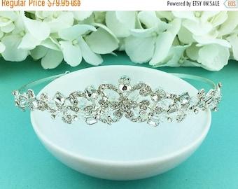SALE Ends Sunday Swarovski Crystal Wedding Tiara, Pearl Wedding Tiara, wedding headpiece, royal style tiara, rhinestone tiara, pearl tiara 4