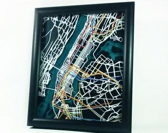 """New York Subway Map - 8""""x10"""""""