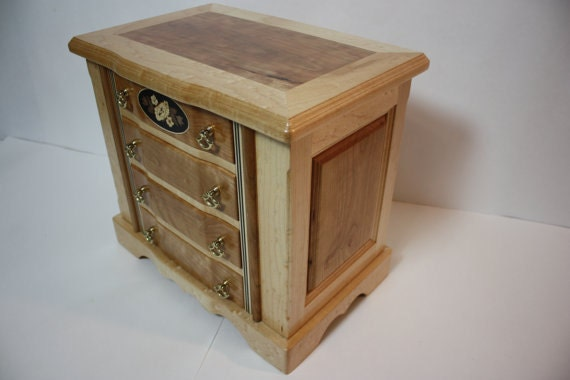Large Handmade Cherry Jewelry Box