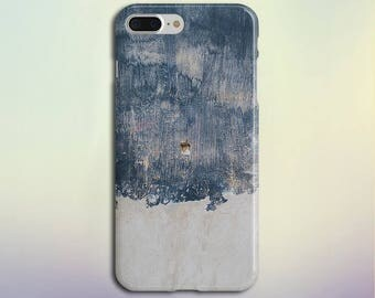 Navy Blue x Grey Painted Wood Phone Case, iPhone X, iPhone 7 Plus, Protective iPhone Case, Galaxy s8, Samsung Galaxy Case, Note, CASE ESCAPE