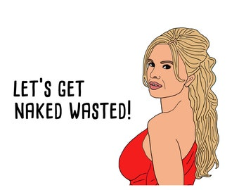Naked Wasted RHOC Card
